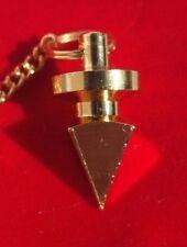 Metal Pyramid Pendulum in velvet pouch & dowsing charts