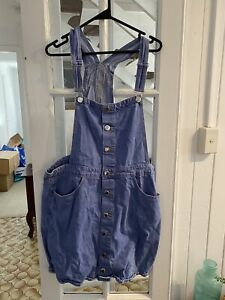 City Chic Sz XS 14 Light Blue Denim Dress
