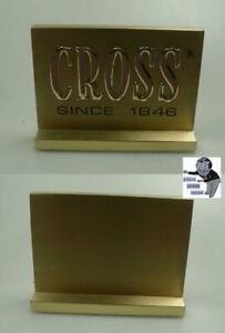 Cross decoration brass sign small size but heavy  #