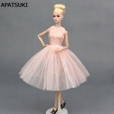 Pink Doll Accessories Dancing Costume Ballet Dress For Barbie Dolls Sundress Toy