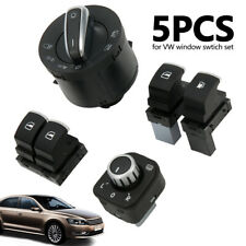 5X Carburant Phare Miroir Commutateurs Fenêtre Chrome Pr VW Eos Golf R32 MK 5 BM