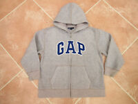Gap Kids - Boys Light Grey Warm Fleece Zip up Hooded Jacket Top - size 6/7 yrs