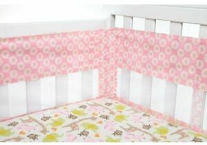 Carter's Jungle Collection Pink Daisy Print Secure Me Crib Liner - BRAND NEW!!