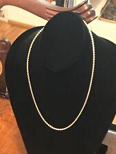 "14K Solid Gold 18"" Necklace Chain Diamond Cut Not Scrap - 8.5 Grams"
