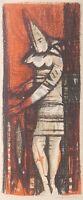 Robert M GATRELL Art Print SIGNED SERIGRAPH ~ Harlequin CLOWN ~ EXPRESSIONIST
