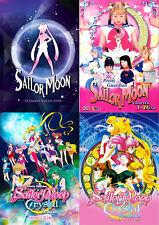 Sailor Moon (Season 1 - 5 + Crystal + 3 Movie + Tv Live ) ~ 15-DVD ~ English Ver