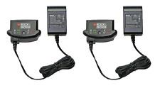 (2) Black & Decker Lithium-Ion 16V 20V Battery Charger for 20V Batteries NEW