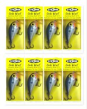 (8) Storm Lures Sub Wart Wiggle Crankbait Lot Crankbaits Shad SUBW04 New In Pack
