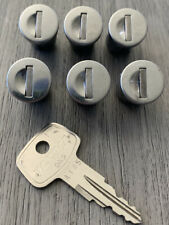 Yakima SKS Lock Cores 6 Pack #A145 W/ Key In Nice Used Condition!
