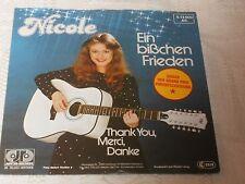 """NICOLE EIN BISSCHEN FRIEDEN GERMANY EUROVISION WINNER 1982 GER PS 7"""""""