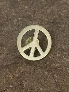 CND Peace Sign Pin Badge Vintage