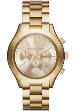 LADIES BRAND NEW MICHAEL KORS GOLD TONE CHRONO WATCH MK6251 RRP £249