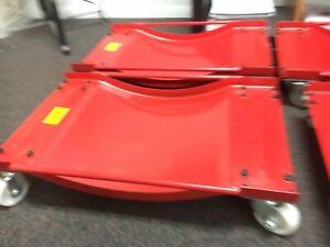 "Set of (4) Auto Dolly Car Dolly Wheel Tire 15""x23.5"" Skate 4000lb Repair Slide"