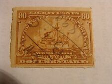 * 1898 80-Cent Documentary Stamp, Scott # R172, used with hinge !