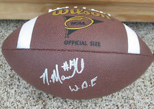 Nick Marshall Signed Wilson NCAA Replica Football inscribed WDE with proof