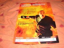 ROBBIE WILLIAMS !!!MILLENNIUM!!!!!RARE FRENCH PRESS/KIT