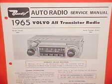 1965 VOLVO 122S 1800S SPORT COUPE PV544 SEDAN BENDIX AM RADIO SERVICE MANUAL 65