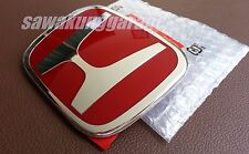 JDM Red H Emblem Badge Logo for ACCORD EURO CL9 CIVIC FK DC5 Ferio JAZZ GD1 GD3
