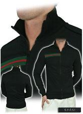 Gucci ICONIC Web Navy Felpa Sweatshirt Sweater Zip Jacket M Made in Italy, RARE
