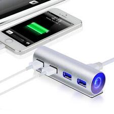 5Gbps High-Speed Aluminum USB 3.0 4-Port Splitter Hub Adapter with Led Light New
