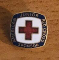 Vintage Enamel American Red Cross Junior Sponsor Pin