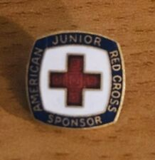 Vintage Enamel American Red Cross Junior Sponsor Pin