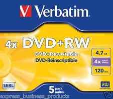 Verbatim DVD+RW 4.7GB 4x speed Pack 5 - AA95043