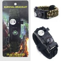 Multi-function Outdoor Emergency Paracord Bracelet Survival Bracelets Rope Wrap