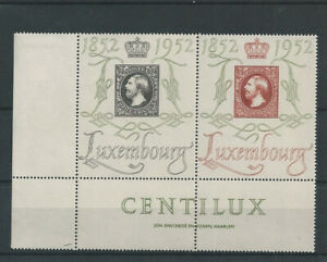 Postage Stamps Luxembourg 1952  453/454  - Centenaire du Timbre - MNH **