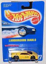 HOT WHEELS 1991 BLUE CARD LAMBORGHINI DIABLO YELLOW