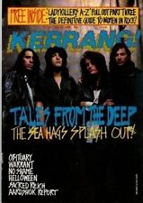 Meer Gezücht auf Kerrang Cover 1989 aggressiv von Motorhead aardshok Festival