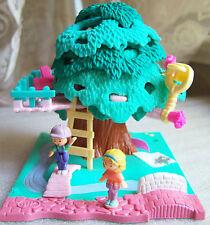 Vintage Polly Pocket Tree House complete set w dolls Bluebird Toys