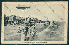 Ancona Falconara Dirigibile cartolina QQ1139