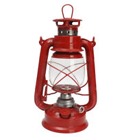 Red Retro Style Oil Lantern 10 in Outdoor Camp Kerosene Paraffin Hurricane