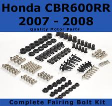 Complete Fairing Bolt Kit body screws for Honda CBR 600 RR 2007 - 2008 Stainless