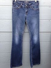 SILVER JEANS FOR WOMEN SIZE 28 DARK WASH STRAIGHT LEG PRE-OWNED