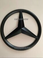 MERCEDES A,C,GLA,GLK,CLA,CLS,E Class FRONT GRILLE STAR BADGE Matt Black (Add On)
