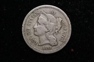 1873 United States. Three Cents. Nickel.