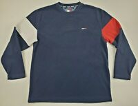 Vintage Tommy Jeans Hilfiger Ribbed L/S Crew Neck T-Shirt Men's Size Medium EUC