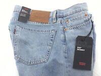 LEVI'S 510 Skinny Warp Stretch Jeans Light Blue Premium Denim Big E Mens New