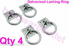4 Galvanized Ring on Plate CHAIN ANCHOR Trailer Dog Wall or Floor Home Security