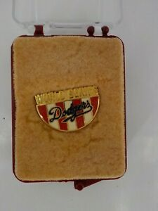 LOS ANGELES DODGERS MLB LAPEL PIN WORLD SERIES PRESS PIN VINTAGE JEWELRY IN CASE