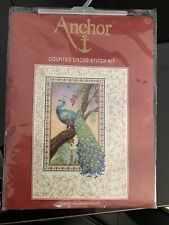 Counted Cross Stitch Kit ANCHOR - Peacock in the Renaissance style