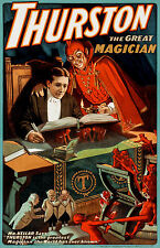 Thurston the Great Magician, Old Vintage Ad, Magic, Circus, HD Print or Canvas