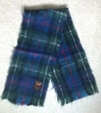 "New Vintage 51"" x 11"" Creagaran Scotland Mohair Wool Tartan Plaid Winter Scarf"