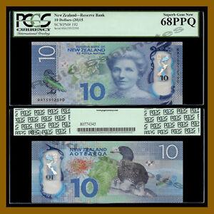 New Zealand 10 Dollars, 2015 P-192 Polymer PCGS 68 PPQ