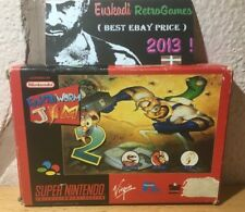 """Earth Worm Jim 2"" / PAL / SNES - SUPER NINTENDO / Completo"