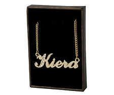"Name Necklace ""KIERA"" - 18ct Gold Plated - Swarovski Elements - Anniversary Gift"