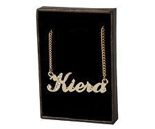 "Name Necklace ""KIERA"" - 18ct Gold Plated - Swarovski Elements - Anniversary Gift"