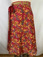 Women's Skirt Sz M Silk Pink Reversible Wrap Around Layered Urban Nomad